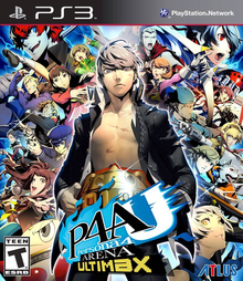 Box art for the game Persona 4 Arena Ultimax