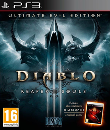 Box art for the game Diablo III: Reaper of Souls Ultimate Evil Edition