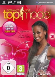 Box art for the game Germany's Next Top Model 2010