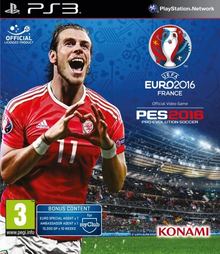 Box art for the game PES 2016: UEFA Euro 2016