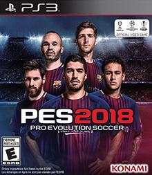 Box art for the game Pro Evolution Soccer 2018