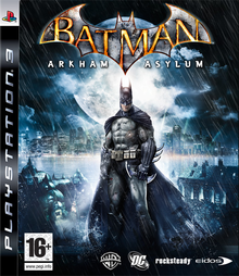 Box art for the game Batman: Arkham Asylum