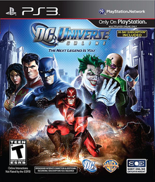 Box art for the game DC Universe Online