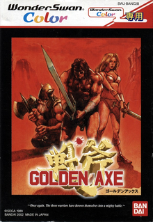 Box art for the game Golden Axe