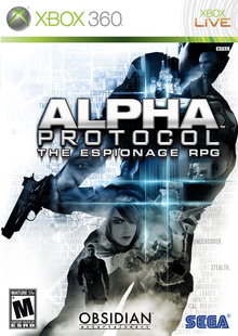 Box art for the game Alpha Protocol