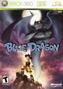 Box art for the game Blue Dragon