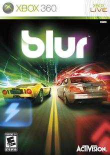 Box art for the game Blur