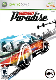 Box art for the game Burnout Paradise