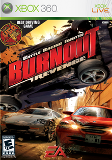 Box art for the game Burnout Revenge