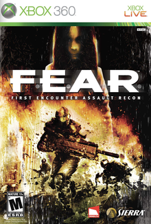 Box art for the game F.E.A.R.