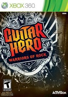 Box art for the game Guitar Hero: Warriors of Rock