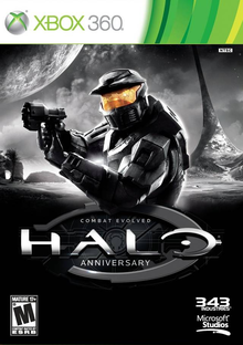 Box art for the game Halo: Combat Evolved Anniversary