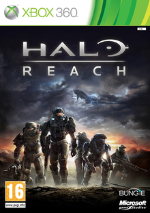 Box art for the game Halo: Reach