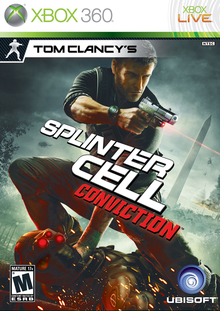 Box art for the game Tom Clancy's Splinter Cell: Conviction