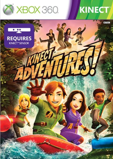 Box art for the game Kinect Adventures!