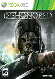 Box art for the game Dishonored