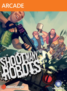 Box art for the game Shoot Many Robots