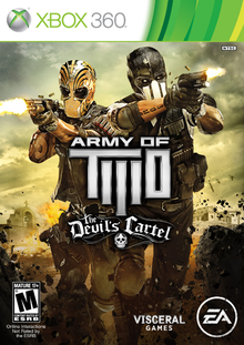 Box art for the game Army of Two: The Devil's Cartel