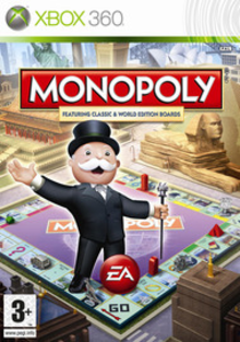 Box art for the game Monopoly: Here & Now Worldwide Edition