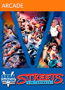 Box art for the game Sega Vintage Collection: Streets of Rage