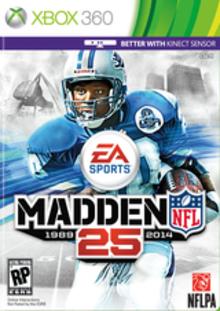 Box art for the game Madden NFL 25