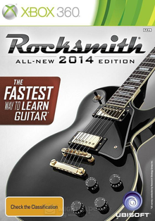 Box art for the game Rocksmith 2014 Edition