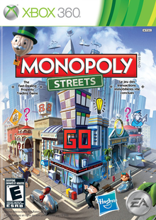 Box art for the game Monopoly Streets