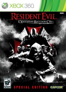 Box art for the game Resident Evil Operation Raccoon City Deluxe Edition