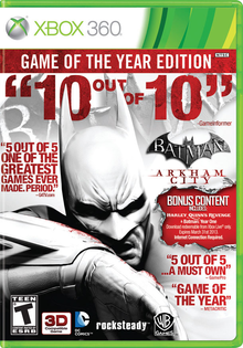 Box art for the game Batman Arkham City - Game of the Year Edition