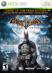 Box art for the game Batman: Arkham Asylum - Game of the Year Edition
