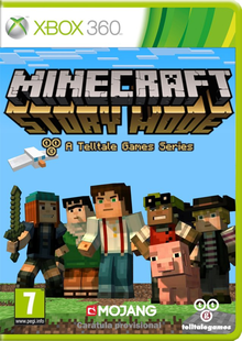 Box art for the game Minecraft: Story Mode