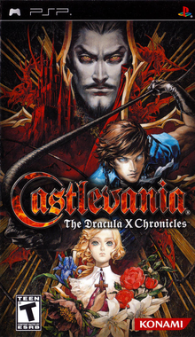 Box art for the game Castlevania: The Dracula X Chronicles