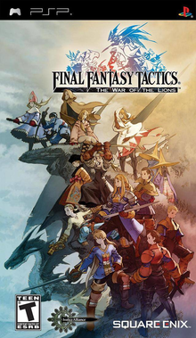 Box art for the game Final Fantasy Tactics: The War of The Lions