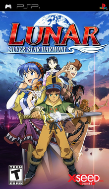 Box art for the game Lunar: Silver Star Harmony