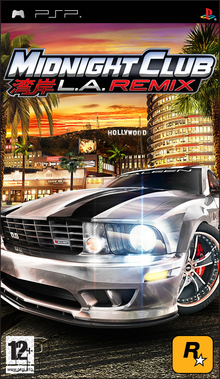 Box art for the game Midnight Club: L.A. Remix