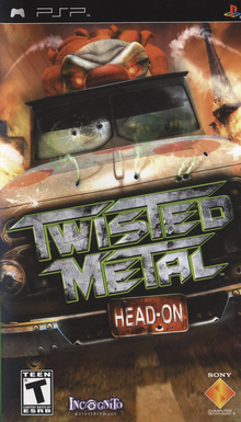 Box art for the game Twisted Metal: Head-On