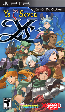 Box art for the game Ys Seven