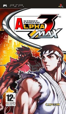 Box art for the game Street Fighter Alpha 3 MAX