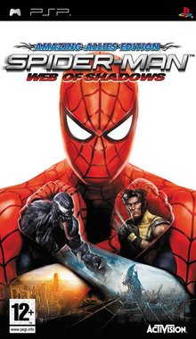 Box art for the game Spider-Man: Web of Shadows
