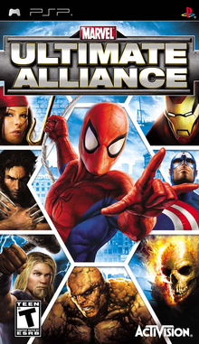 Box art for the game Marvel: Ultimate Alliance