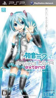 Box art for the game Hatsune Miku: Project Diva Extend