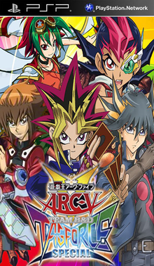 Box art for the game Yu-Gi-Oh! ARC-V Tag Force Special