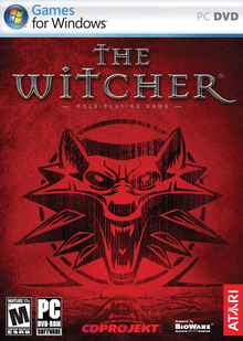 Box art for the game The Witcher