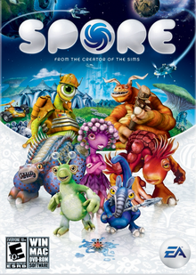 Box art for the game Spore