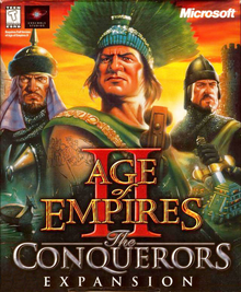 Box art for the game Age of Empires II: The Conquerors Expansion