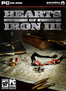 Box art for the game Hearts of Iron III