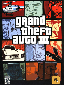 Box art for the game Grand Theft Auto III