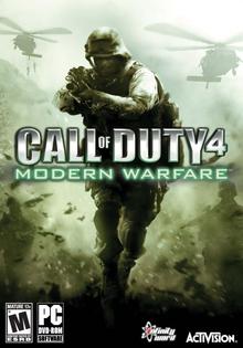 Capa do jogo Call of Duty 4: Modern Warfare