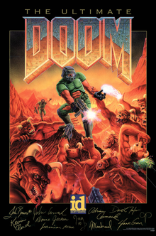 Box art for the game The Ultimate Doom
