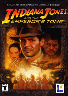 Box art for the game Indiana Jones and the Emperor's Tomb
